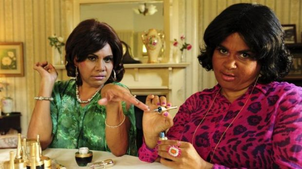 Fast-paced and consistently funny: Deborah Mailman and Elizabeth Wymarra perform their Housewives of Narromine skit in ...