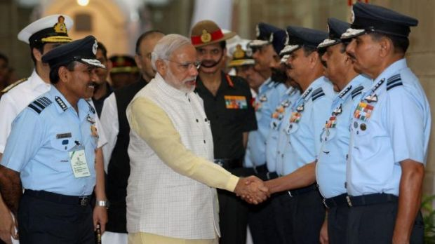 New India: Narendra Modi meets top air force commanders in Delhi. The prime minister has promised sweeping reform of ...