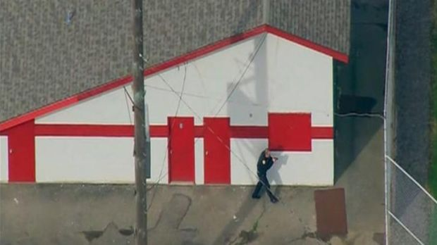 Emergency personnel respond after reports of a shooting at Marysville-Pilchuck High School in Marysville.