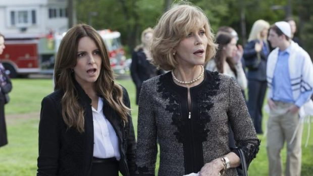 Wendy Altman (Tina Fey) and  Hilary Altman (Jane Fonda) in <i>This is Where I Leave You</i>.
