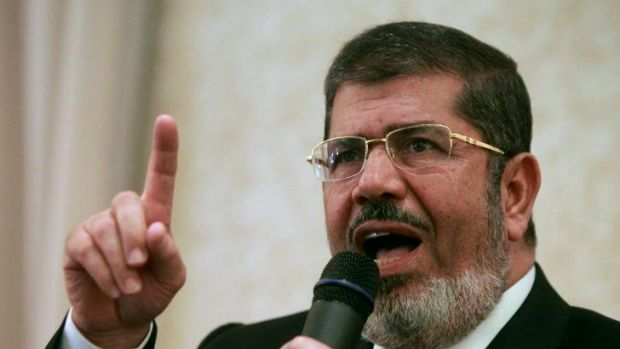 Deposed Egyptian president and Muslim Brotherhood member Mohammed Mursi.