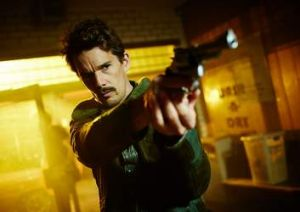 Disappointing results: Ethan Hawke in <i>Predestination</i>.