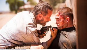 Home grown: Guy Pearce and Robert Pattinson in <i>The Rover</i>.