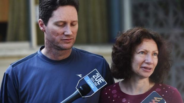 Michelle's parents Adam and Anne Levy.