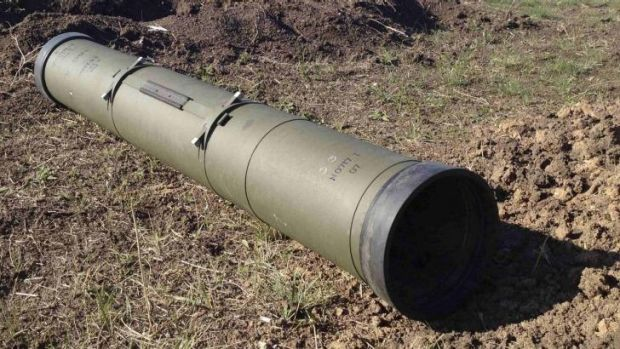 A tube of an anti-tank guided missile.