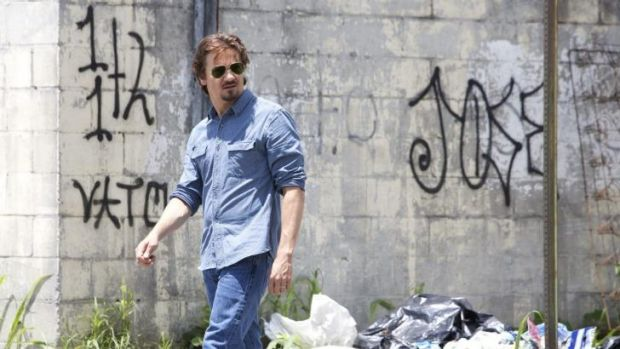 On the wall: Jeremy Renner as  journalist Gary Webb in  a scene from <i>Kill the Messenger</i>.