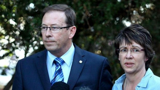 Peter Dowling and his wife Helen after he was booted by his local branch for pre-selection for next year's election.