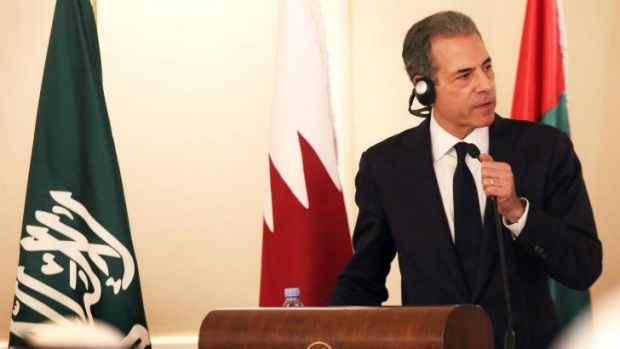 Fighting back: Richard Stengel, the US undersecretary of state for diplomacy and public affairs, addresses media in ...