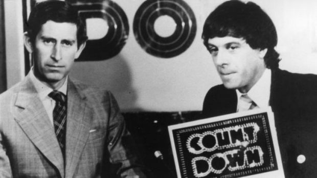 Molly Meldrum with Prince Charles from a famous 1977 <i>Countdown</i> episode.