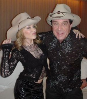 Hat's entertainment: Kylie Minogue with Molly Meldrum.