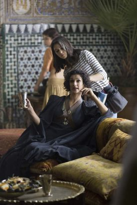 Indira Varma plays the grieving and vengeful Ellaria Sand in <i>Game of Thrones</i> season 5.