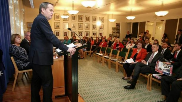 Opposition Leader Bill Shorten addresses Labor caucus: Labor ruled out supporting the turning back of asylum seeker boats.