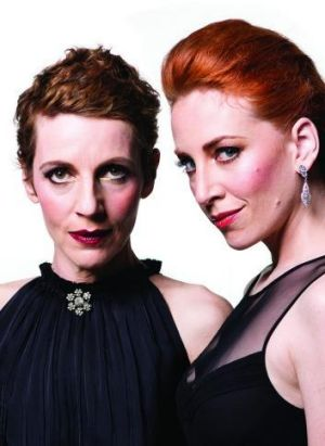 Fierce and powerful women... Christen O'Leary and Helen Christinson in Medea.