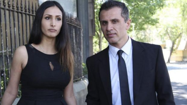 Murderer's girlfriend sues site after claims she was a stripper: Rachelle Louise with Simon Gittany during his trial.