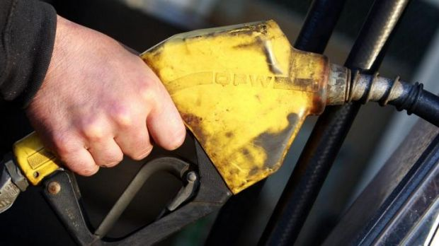 Paying at the pumps: The government says money raised from the fuel tax will all be spent on roads.