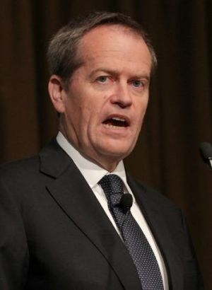 Leadership talks begin: Bill Shorten.