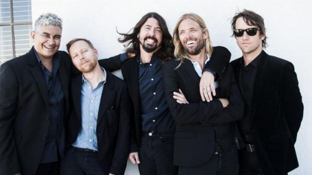 Still rockin' ... the Foo Fighters are (from left) Pat Smear, Nate Mendel, Dave Grohl, Taylor Hawkins and Chris Shiflett.