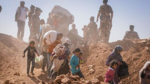 Syrian refugees streaming  into Jordan: expect more instability from climate change, military leaders say.