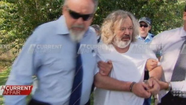 Peter Foster is arrested near Byron Bay.