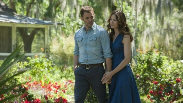 Love among the roses: James Marsden and Michelle Monaghan in <i>The Best of Me</i>, the latest big-screen adaptation of ...