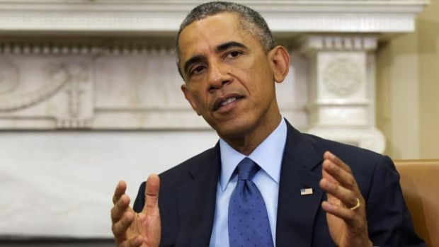 Long game: Barack Obama's response to events in Iraq and Syria has been criticised for being too passive.