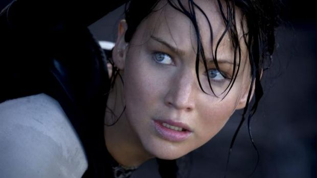 Jennifer Lawrence as Katniss Everdeen in <i>The Hunger Games </i>series.