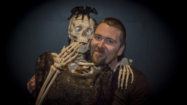 Frighteners: Luke Cummins hopes the fear-themed Night at the Museum party at National Museum of Australia will help ...