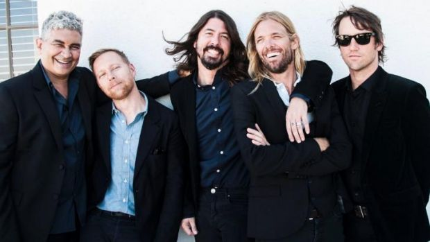 The Foo Fighters will tour in February and March 2015. From left, Pat Smear, Nate Mendel, Dave Grohl, Taylor Hawkins and ...