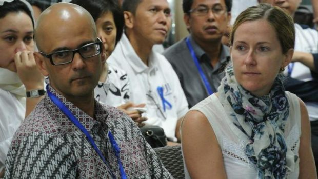 Neil Bantleman, his wife Tracy Bantleman, pictured here the day he was taken into police custody on July 14, 2014.