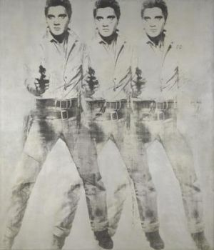 Andy Warhol's 'Triple Elvis' from 1963.
