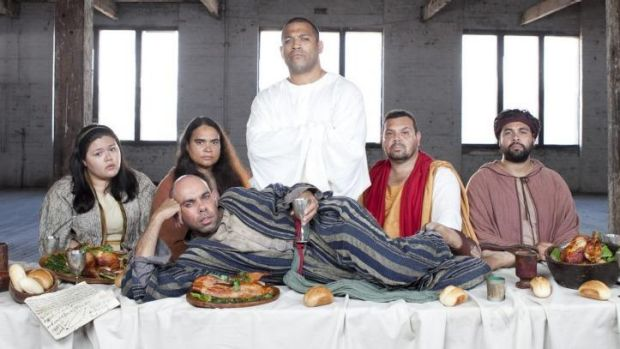 Nothing is sacred: ABC series <i>Black Comedy</i>.