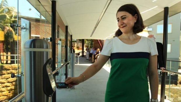 Paperless system in pipeline: Transport Minister Gladys Berejiklian taps into Opal use.