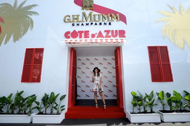 Bambi Northwood-Blyth at the GH Mumm marquee.