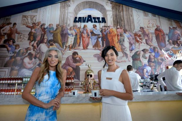 Nadia Bartel and Nicole Warne at the Lavazza marquee.