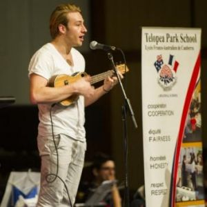 Striking a chord: Olympic diver Matthew Mitcham takes part in <i>Music: Count Us In</i>.