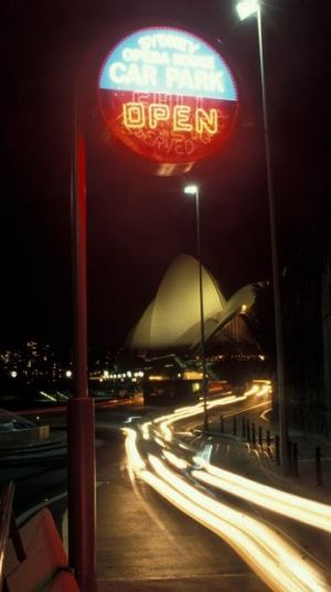 Parking demand: Night lights and the Sydney Opera House