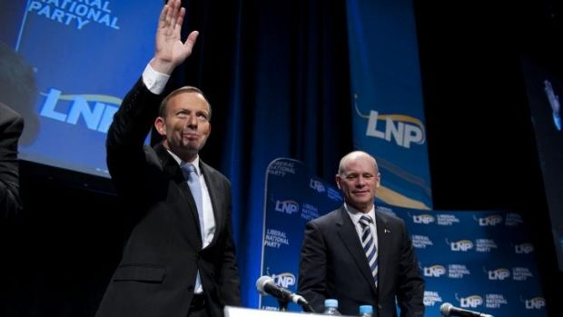 Prime Minister Tony Abbott with Queensland Premier Campbell Newman.