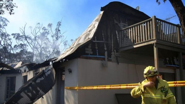 Devastated: The Beattie family's home.