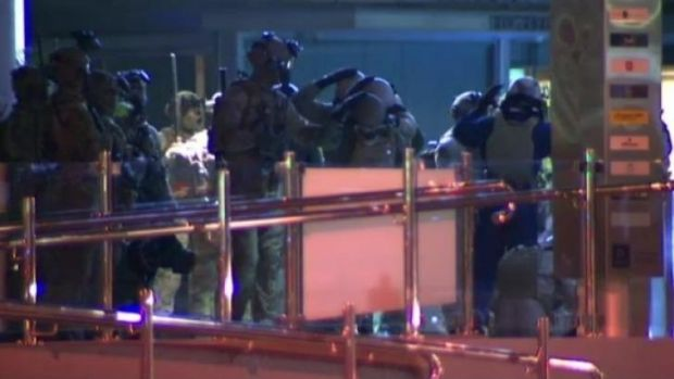 Soldiers fine tune their G20 preparations in Brisbane's CBD on Sunday night.