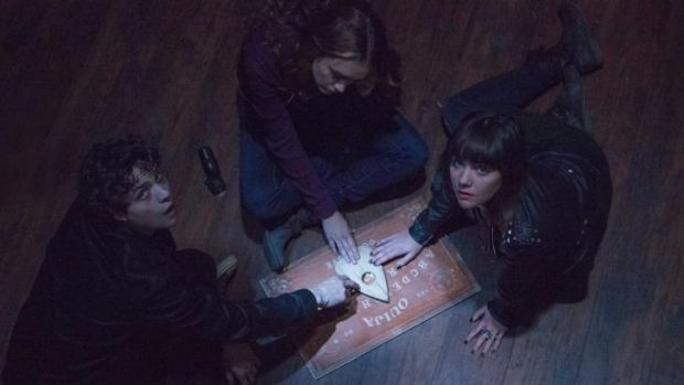 Things that go bump in the night ... Olivia Cooke, as Laine, and Ana Coto, as Sarah, in <i>Ouija</i>.