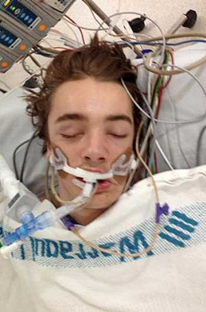 Teenager Brock Toulson is in an induced coma after being hit in Knoxfield.
