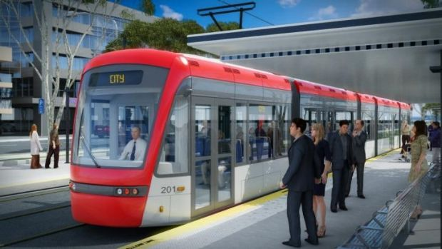 Travelling light: An artist's impression of the proposed Capital Metro light rail.