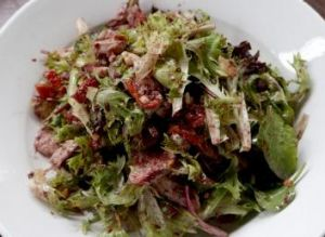 Enjoyable: Shaun Micallef's chicken salad at the Goat House Cafe Roastery.