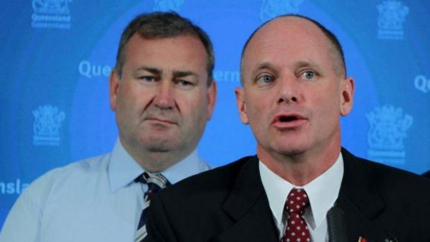 Police Minister Jack Dempsey and Premier Campbell Newman.