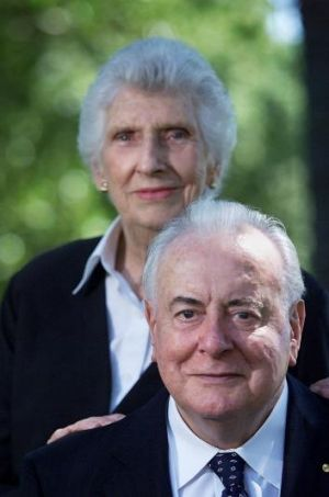 Gough Whitlam with his wife Margaret.