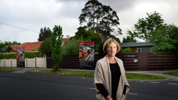 Concerns: Danita Tucker in Jasper Road, McKinnon, where residents are dismayed by developers' plans to build ...