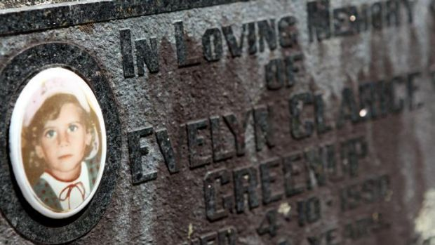 The grave of Evelyn Greenup, who was murdered 24 years ago in Bowraville.