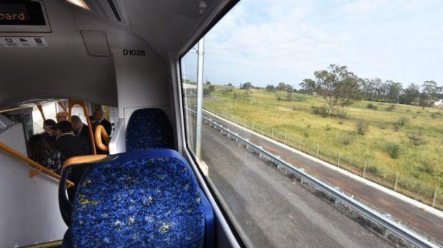 The South West Rail Link will be the first heavy rail line to open in Sydney since 2009.