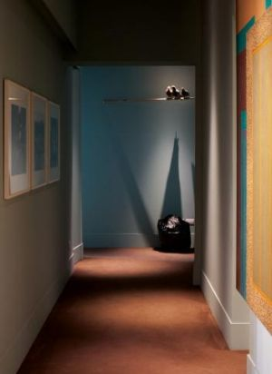 Pride of place: Maurizio Catellan's embalmed pigeons perch in the corridor at Osteria Francescana.