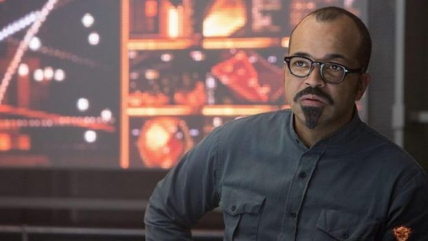 Living in District 13: Beetee Latier (Jeffrey Wright) is well-utilised.